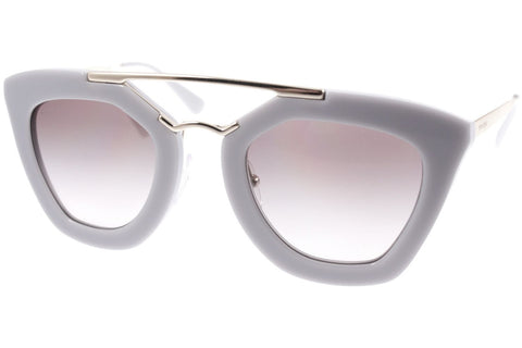 Prada PR09QS TV30A7 Cinema Sunglasses, Opal Gray/Matte Gray Frame, Gray Gradient 49mm Lenses