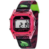 Freestyle Women's 10019186 Shark Clip Pink Digital Watch, Black Nylon Band, Square 38mm Case