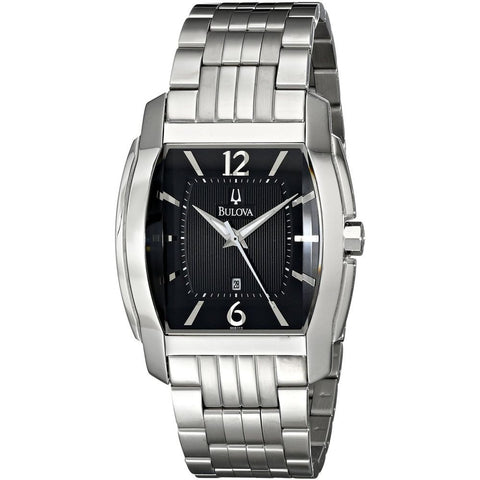 Bulova 96B112 Dress Analog Display Men's Watch, Stainless Steel, Tonneau 44mm Case