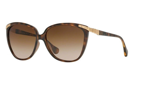 Dolce & Gabbana DD8096 502/13 Cat Eye Women's Sunglasses, Havana Frame, Brown Gradient 58mm Lens
