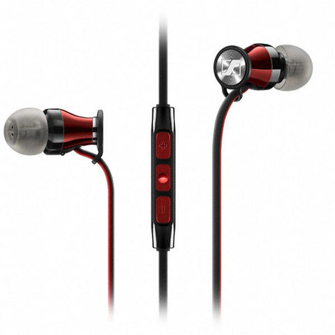 Sennheiser Momentum M2 IEi In-Ear Earphones, iOS Version, Red & Black