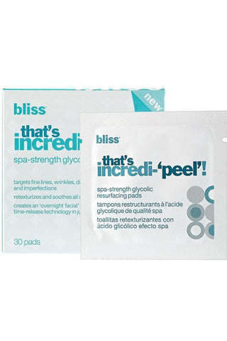 Bliss That'S Incredi-'Peel'! Spa-Strength Glycolic Resurfacing Pads 30 Pads
