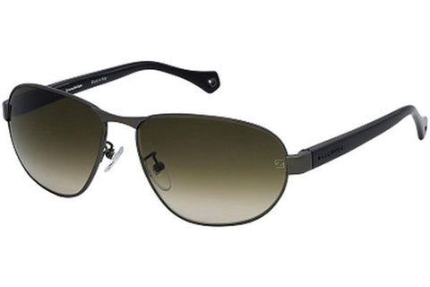 Ermenegildo Zegna SZ3288M 0568 Sunglasses, Ruthenium Frame, Gray Green 60mm Lenses