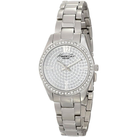 Kenneth Cole KC4978 Classic Women's Analog Watch, Silver Band, Round 28mm Case