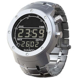 Suunto SS014527000 Elementum Aqua Steel Digital Display Quartz Watch, Silver Stainless Steel Band, Round 51.5mm Case