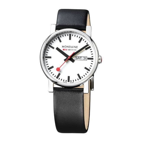 Mondaine A667.30344.11SBB Evo Analog Display Quartz Watch, Round 38mm Case