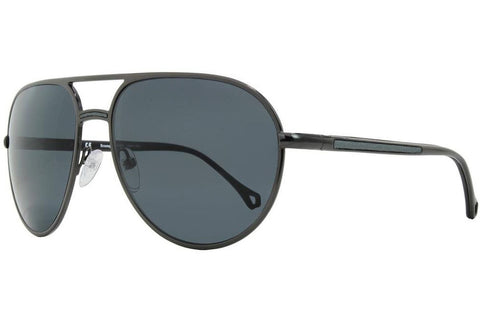 Ermenegildo Zegna SZ3201M 568P Sunglasses, Gunmetal Frame, Polarized Gray 59mm Lenses