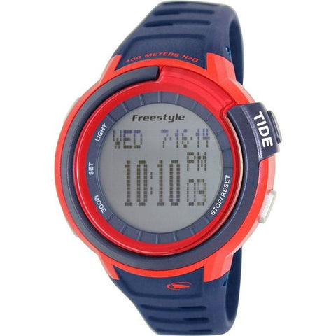 Freestyle Men's 103182 Mariner Tide Navy Digital Watch, Blue Silicone Band, Round 46mm Case