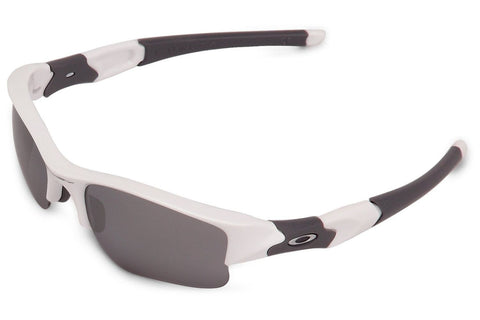 Oakley 03-917 Men's Flak Jacket XLJ Sunglasses, Polished White Frame, Black 60mm Lenses