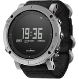 Suunto SS021218000 Essential Stone Digital Display Quartz Watch, Black Textile Band, Round 49.1mm Case