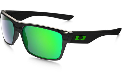 Oakley OO9189 04 TwoFace Sunglasses, Polished Black Frame, Jade Iridium 60mm Lenses