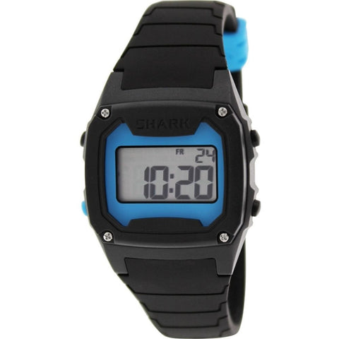 Freestyle Unisex 102276 Shark Classic Blue/Black Digital Watch, Black Silicone Band, Tonneau 38mm Case