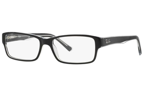 Ray-Ban RX5169 2034 Eyeglasses, Black/Transparent Frame, Clear 54mm Lenses