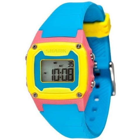 Freestyle Women's 102271 Shark Classic Mini Digital Watch, Blue Silicone Band, Square 30mm Case