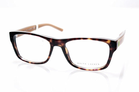 Ralph Lauren 0RL6118-5003-52 Eyeglasses, Brown Havana Frame, Clear 52mm Lenses