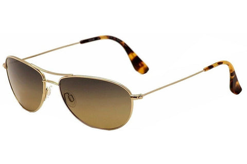 Maui Jim HS245-16 Baby Beach Sunglasses, Gold Frame, Polarized HCL Bronze 56mm Lenses