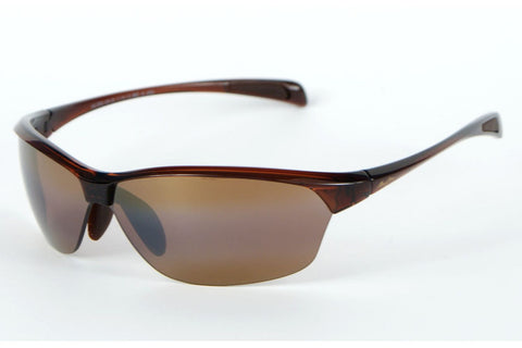 Maui Jim H426-26 Hot Sands Sunglasses, Rootbeer Frame, Polarized HCL Bronze 71mm Lenses