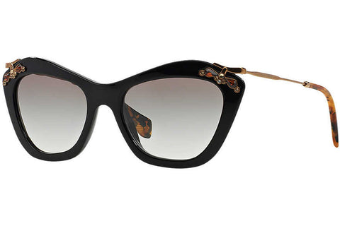 Miu Miu MU 03PS 1AB0A7 Sunglasses, Black Frame, Gray Gradient 53mm Lenses