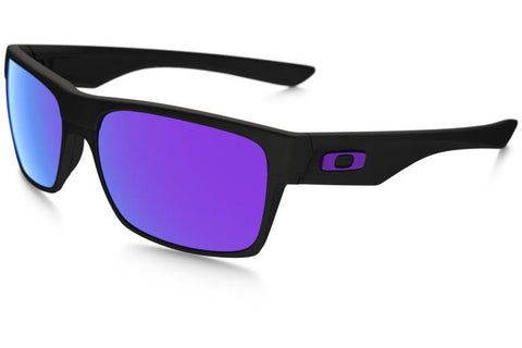 Oakley OO9189 08 TwoFace Sunglasses, Matte Black Frame, Violet Iridium 60mm Lenses