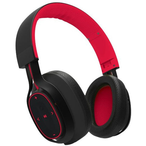 BlueAnt Pump Zone Over-the-Ear Wireless Headphones - Red