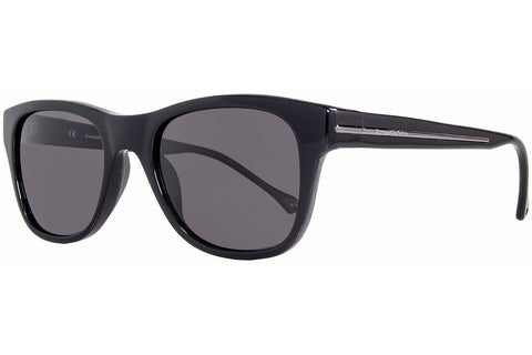 Ermenegildo Zegna SZ3587M 700P Sunglasses, Shiny Black Frame, Polarized Gray 51mm Lenses