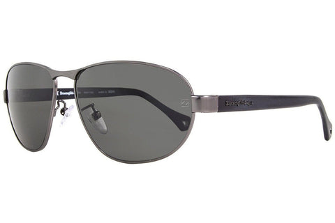 Ermenegildo Zegna SZ3288M 627P Sunglasses, Matte Gunmetal/Black Frame, Polarized Gray 62mm Lenses