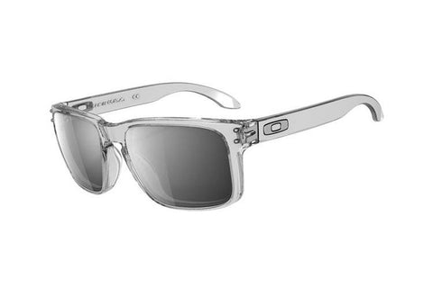Oakley OO9102-06 Holbrook Sunglasses, Clear Frame, Chrome Iridium 55mm Lenses