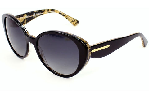 Dolce & Gabbana DG4198 2744/T3 Gold Leaf Sunglasses, Top Nero On Gold Leaf Frame, Polarized Grey Gradient 54mm Lenses