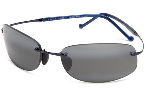 Maui Jim 516-03 Honolua Bay Sunglasses, Blue Frame, Neutral Grey 61mm Lenses