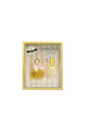 Chantilly 2 Pcs Set: 3 Oz Edt Sp + 0.4 Oz Edt Sp