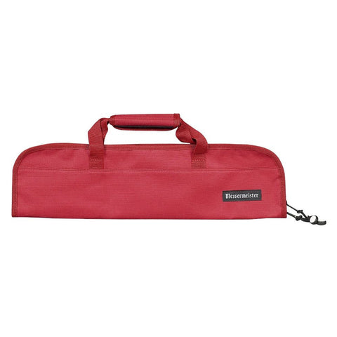 Messermeister 2066-5R 5-Pocket Padded Knife Bag, Red