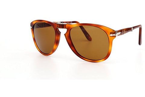 Persol PO0714-96-33 Icons Vintage Celebration Sunglasses, Folding Havana Frame, Brown 54mm Lenses
