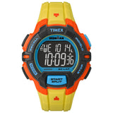 Timex TW5M023009J Ironman Rugged 30 Full-Size Digital Display Quartz Men's Watch, Yellow Resin Band, Round 45mm Case