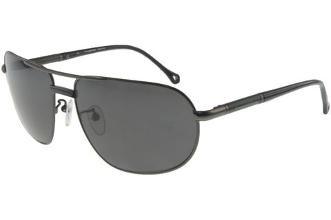 Ermenegildo Zegna SZ3195G 627P Sunglasses, Matte Gunmetal Frame, Polarized Gray 62mm Lenses