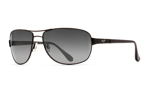 Maui Jim GS253-2M Sand Island Sunglasses, Matte Black Frame, Polarized Neutral Gray 63mm Lenses