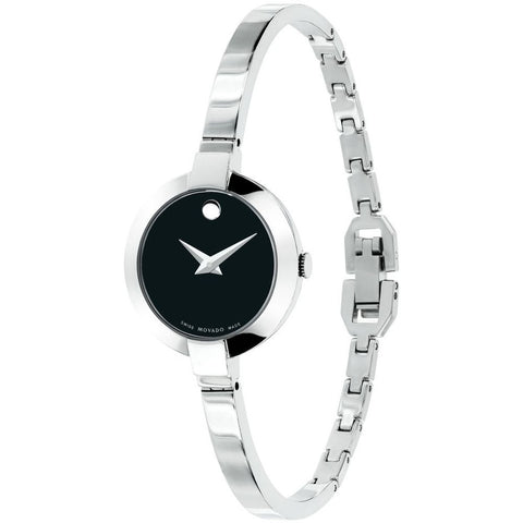 Movado 0606595 Bela Analog Display Quartz Watch, Silver Stainless Steel Band, Round 25mm Case