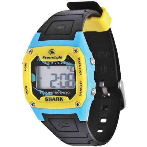 Freestyle Men's FS81229 Shark Classic Digital Watch, Black Silicone Band, Rectangle 38mm Case