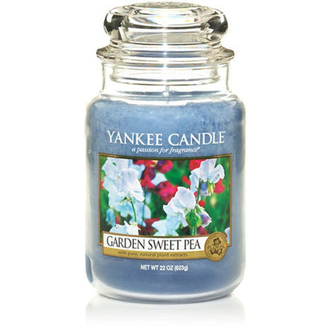 Yankee Candles 1152860 Garden Sweet Pea, Large Jar Candle, 22 oz
