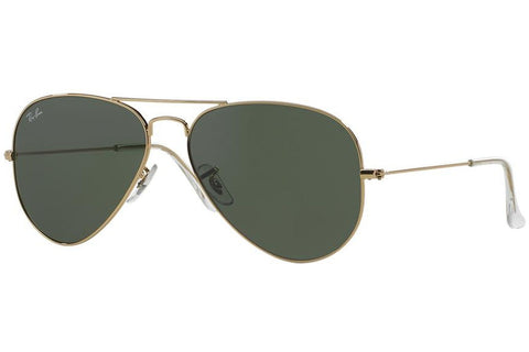 Ray-Ban RB3025 L0205 Aviator Classic Sunglasses, Gold Frame, Green 58mm Lenses