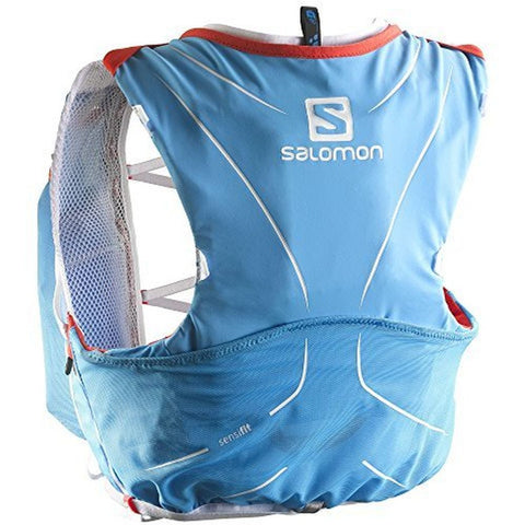 Salomon L37161700-2XS S-Lab Advanced Skin 3 Racing 12 Vest Set, Blue 2XS