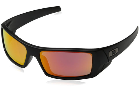 Oakley OO9014-26 Men's GasCan Sunglasses, Black Matte Frame, Ruby Iridium 60mm Lenses