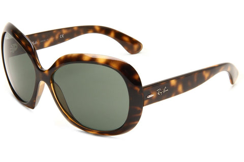 Ray-Ban RB4098 710/71 Jackie Ohh II Sunglasses, Tortoise Frame, Green Classic 60mm Lenses