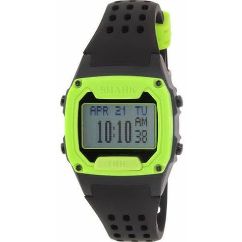 Freestyle Unisex 10019172 Tide Trainer Black/Green Digital Watch, Black Silicone Band, Tonneau 38mm Case