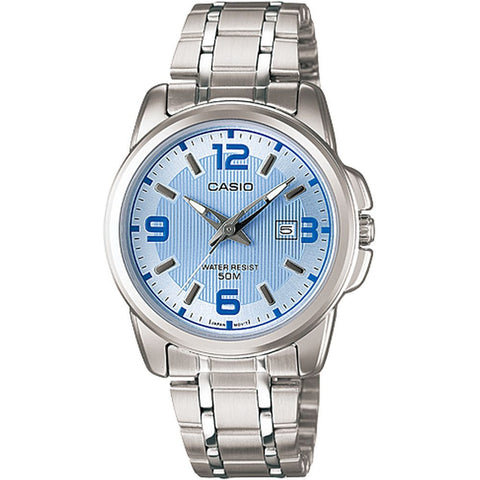 Casio LTP-1314D-2AVDF Analog Display Quartz Watch, Silver Stainless Steel Band, Round 33.1mm Case
