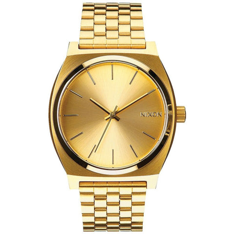 Nixon A045511 Men's Time Teller All Gold/Gold Analog Display Quartz Watch, Gold Stainless Steel Band, Round 37mm Case