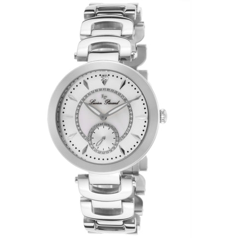 Lucien Piccard LP-10268-22 Casablanca Women's Analog Display Quartz Watch, Silver Stainless Steel Band, Round 36mm Case