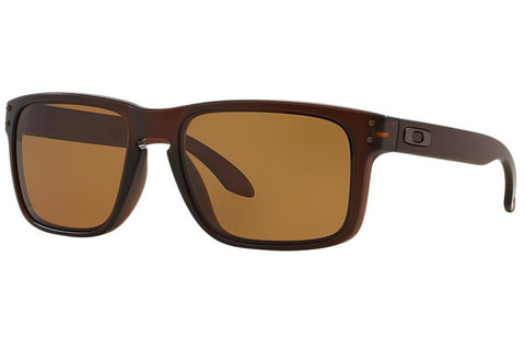 Oakley OO9102-03 Holbrook Sunglasses, Matte Rootbeer Frame, Polarized Bronze 55mm Lenses