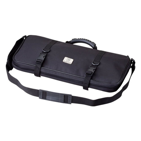 Mercer Culinary M30512M Single Zip, 12-Pocket Knife Case, Black