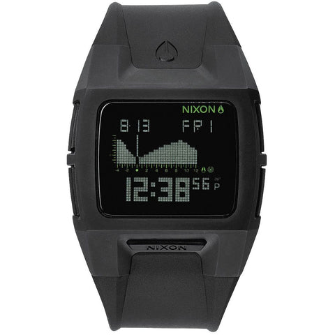 Nixon A289000 Men's Lodown II Black Digital Watch, Black Polyurethane Band, Rectangle 43mm Case