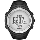 Suunto SS016636000 Core Glacier Gray Digital Display Quartz Watch, Black Elastomer Band, Round 49.1mm Case